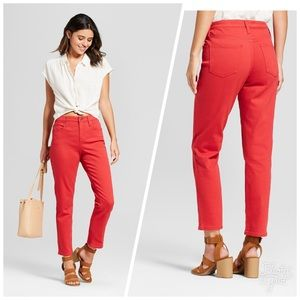 Universal Thread Red High Rise Straight Jean